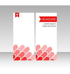 Brochure leaflet cover vector image