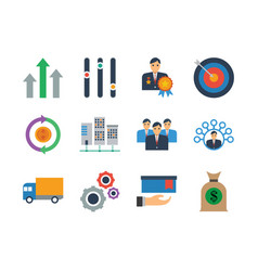 business icon set bundle best for your web vector image
