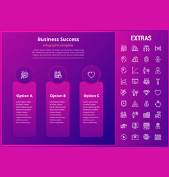 Business success infographic template and elements vector