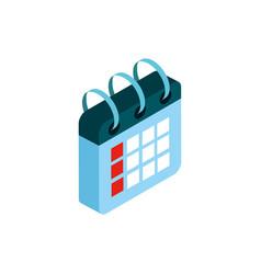 calendar social media isometric icon vector image