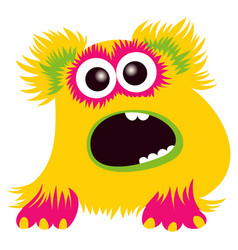 cartoon capital letter d from monster alphabet vector image