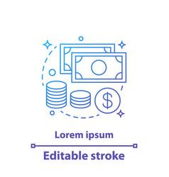 cash money concept icon vector image