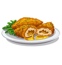 Chicken kiev cutlets vector