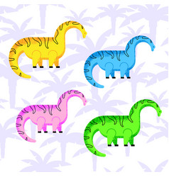 colored dinosaurs set vector image