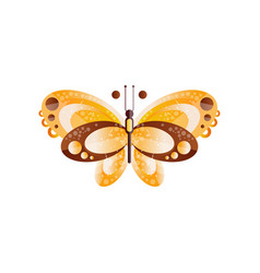 creative of butterfly with brown and vector image