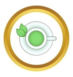 Cup of green tea icon vector