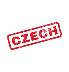 Czech Text Rubber Stamp vector