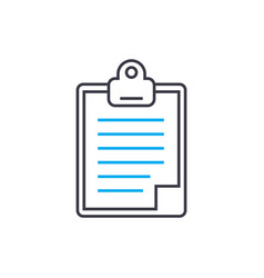 daily report thin line stroke icon daily vector image