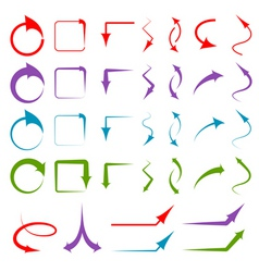different arrows vector image vector image