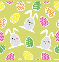 easter seamless pattern with small holiday eggs vector image
