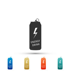 energy drink icon isolated on white background vector image