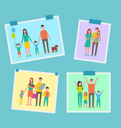 Family happy people pictures vector