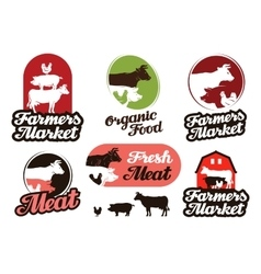 Farm logo meat food or livestock breeding vector