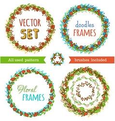 Floral Frame Collection set vector image
