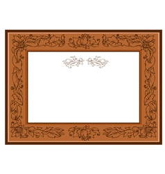Frame with foliate doodles vector