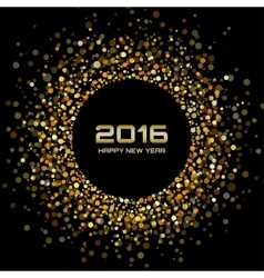 Gold Bright New Year 2016 Background vector