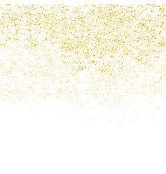 gold glitter dot and white empty background vector image