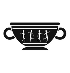 Greek ancient bowl icon simple style vector