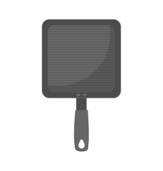 Grill pan cook utensil steel vector
