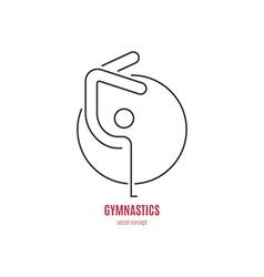Gymnast Logo vector