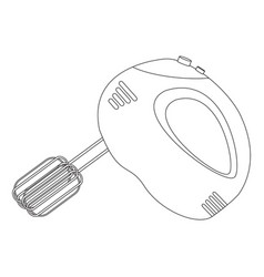 hand mixer icon kitchen appliance vector image