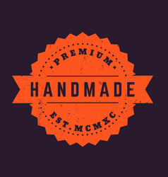 Handmade vintage badge stamp vector