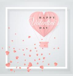 happy valentines day retro invitation card vector image
