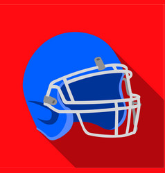 helmet icon flate single sport icon from the big vector image