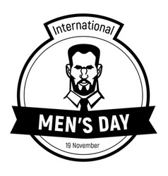 international mens day face icon simple style vector image
