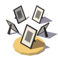 isometric desktop photo frame vector image