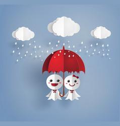 Japanese paper doll against rain teruterubozu vector