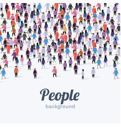 large group people on white background people vector image