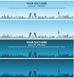 Madrid skyline event banner vector