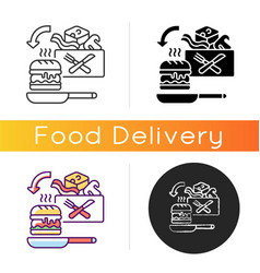 Meal kit delivery icon vector