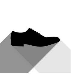Men shoes sign black icon with two flat vector