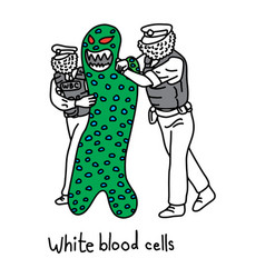 Metaphor function white blood cell to protect vector