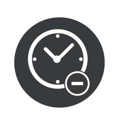 Monochrome round reduce time icon vector