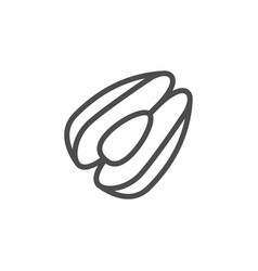 mussel line outline modern icon vector image