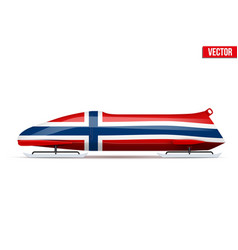 Norway bob for bobsleigh vector