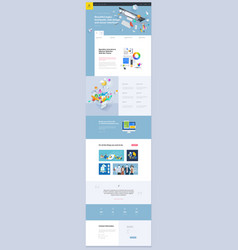 One page website template design vector