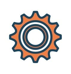 orange cog wheel vector image