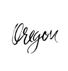 Oregon modern dry brush lettering retro vector