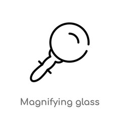 outline magnifying glass icon isolated black vector image