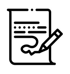 Paper list and pencil icon outline vector