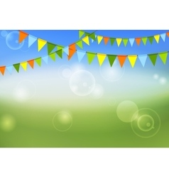 Party flags celebrate abstract background and vector