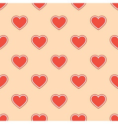 Pattern with red hearts vector image