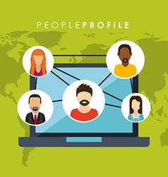 people profile design vector image