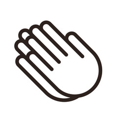 praying hands prayer icon vector image