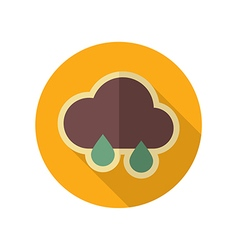 Rain Cloud retro flat icon Meteorology Weather vector image