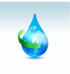 recycle water concept vector image